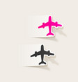 realistic design element plane vector image