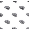 meteorite icon in cartoon style isolated on white vector image