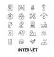 internet web network communication online site vector image