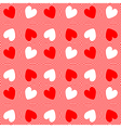 Design seamless twirl stripy heart pattern vector image
