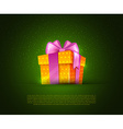 Colorful gift box vector image