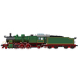 old green steam locomotive vector image