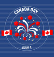 canada day label on blue vector image