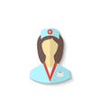 Flat icon of medical nurse with shadow isolated on vector image