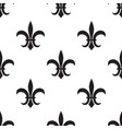 fleur de lis black pattern on white vector image