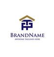letter pt real estate logo vector image
