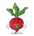 Money mouth radish character cartoon collection vector image