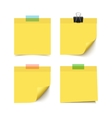 Set of four sticky notes vector image