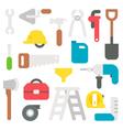 Flat design labor tools set vector image
