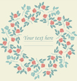 Elegant circle frame with colorful roses vector image