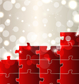 Abstract background with set puzzle pieces vector image