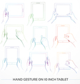 Hand Holding 10inch Tablet Set vector image