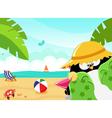 Summer Penguin vector image