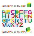 box character set vector image