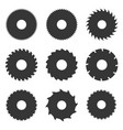 circular saw blades set vector image