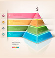 Colored pyramid info graphics vector image