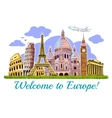Europe Buildings Travel Poster vector image