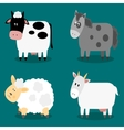 Funny cloven hoof farm animals collection vector image