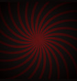 Red and black spiral vintage vector image