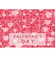 Valentine Day polygonal pixelated abstract vector image