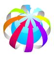 arrows ball vector image vector image