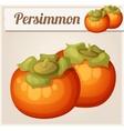 Persimmon fruit Cartoon icon vector image