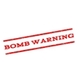 Bomb Warning Watermark Stamp vector image