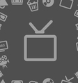 TV collection isolated on white vector image
