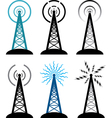 Radio tower vector image
