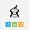 of cooking symbol on mocha vector image