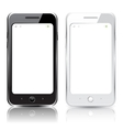 black and white smartphones vector image vector image