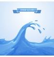 Wave Splash vector image