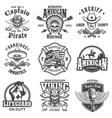 Set of vintage lifestyle emblems vector image vector image