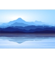 blue mountains near lake vector image