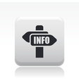 info direction icon vector image vector image