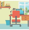 Background of modern workplace vector image vector image