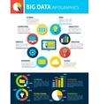 Big Data Infographics vector image