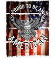american flag and eagle grunge vector image