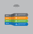 business infographic template design vector image