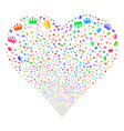 crown fireworks heart vector image
