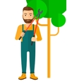 Farmer with pruner vector image