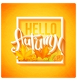 Hello autumn poster vector image