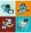 Phablet And Tablet Icons Set vector image