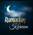 ramadan kareem night vector image