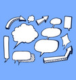 set of nice white stickers vector image