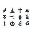 Simple icons set for Halloween vector image