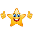 Thumbs up star vector image