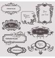 Vintage frames elements vector image