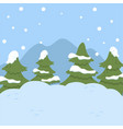 winter landscape with fir trees christmas vector image
