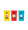 Recycle bins isolated on white flat vector image